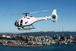 Composite Helicopter over Auckland